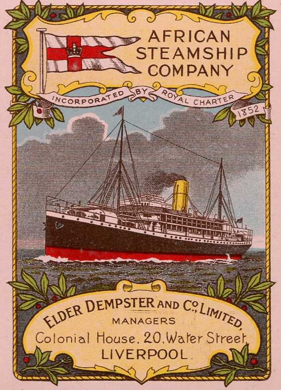 African Steamship Co. playing card